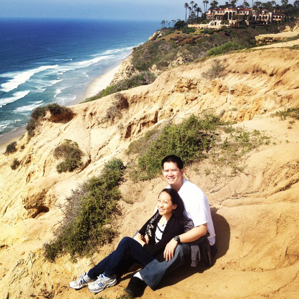 Me and Kenny at the La Jolla Cliffs by UC San Diego