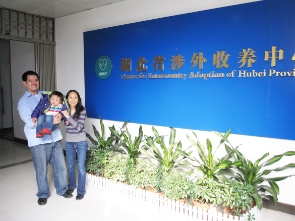 At the Center for Intercountry Adoption for Hubei Province