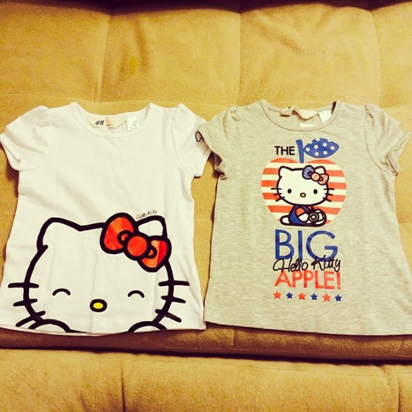 Hello Kitty t-shirts for Roxy