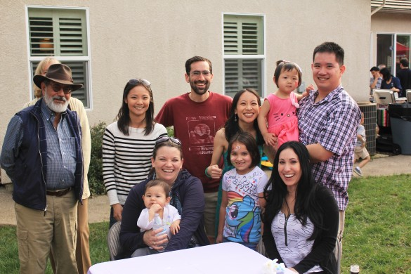 Back: My godfather Arturo, his wife Linda hiding behind him, my sister Allison, godbrother Gabriel, me, Kenny, Roxy, and (Front) Rachel, my godson Sebastian, godniece Isabella, and godsister Alexis