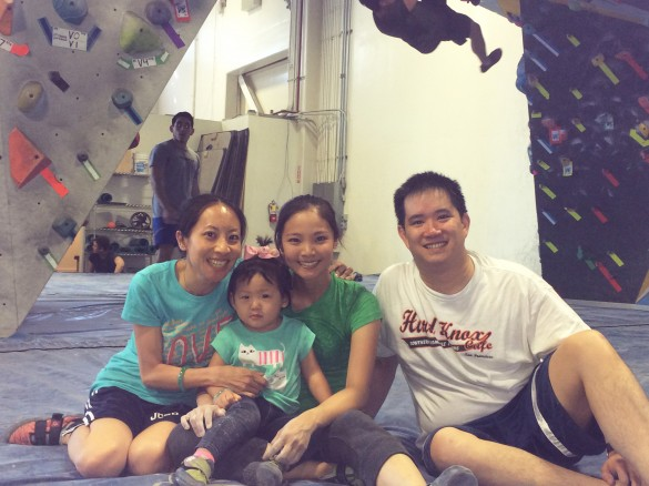 Me, Roxy, my sister Ali, and Kenny at Dogpatch Boulders