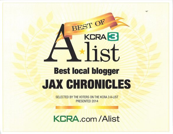 Jax Chronicles 2014 Winner Certificate - Color