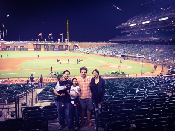 With my cousin and her husband at AT&T Ballpark
