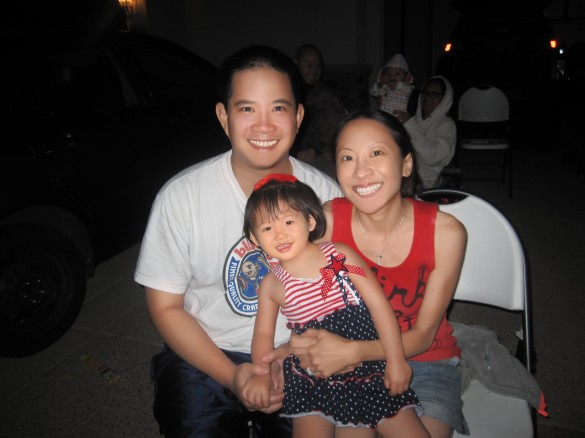 Our happy little family at the 4th of July