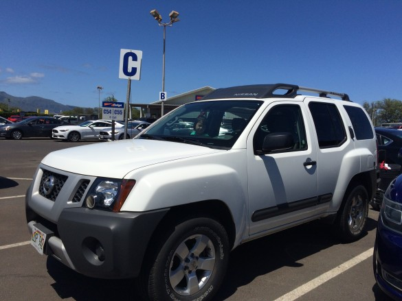 The sweet Nissan Xterra we got hooked up with when we told them it was our daughter's birthday (1 week before counts)