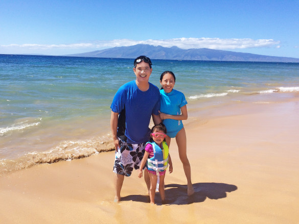 Kaanapali Beach with my loves