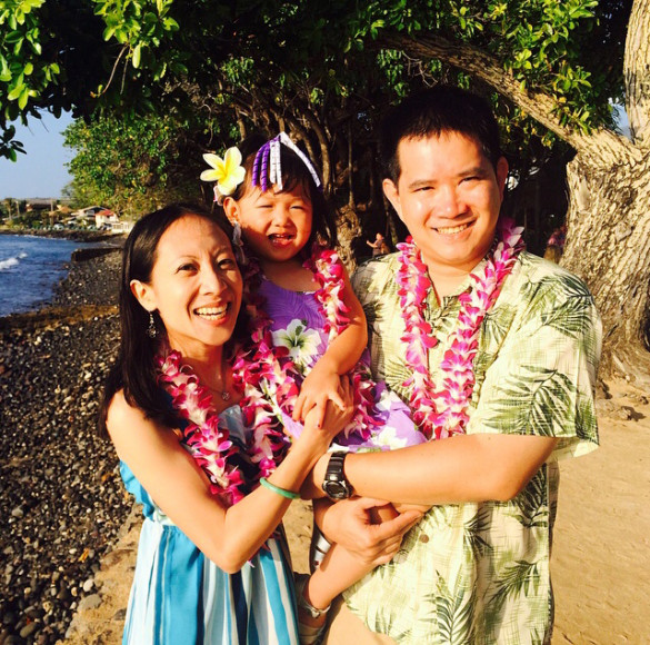 Me, Roxy, & Kenny at the Old Lahaina Luau