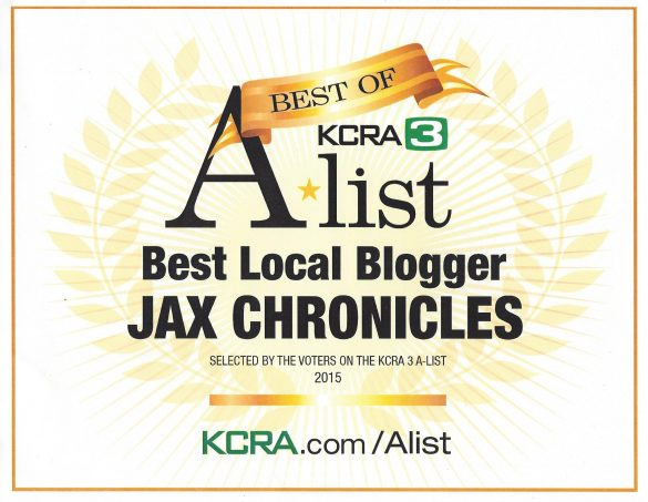 Jax Chronicles 2015 Winner Certificate