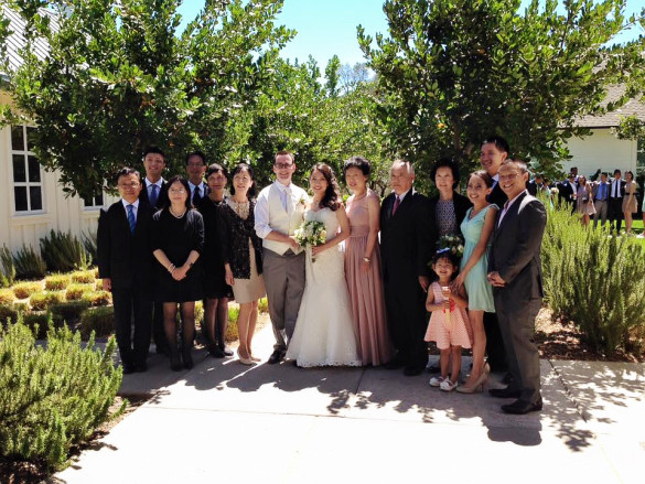 My Dad's side of the family at Jessica & Adam's Wedding at Solage Calistoga June 21, 2015