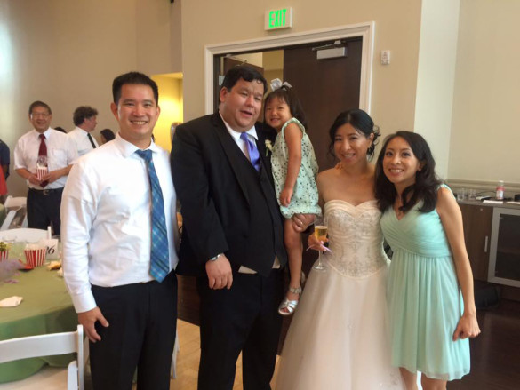 Kenny, James, Roxy, Liz, &  Me at Liz & James's Wedding at The Falls Event Center on August 2, 2015