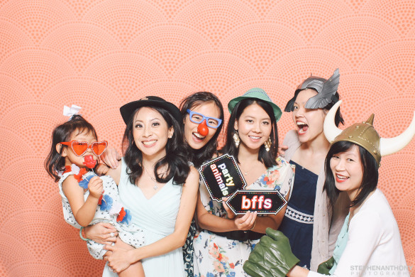 Photo Booth pic with Roxy and my friends Angeline, Karen, Sharon, & Mariko at Liz & James's Wedding Credit: Stephen Anthony Photography
