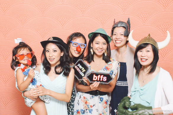 Photo booth pic with Roxy & my friends Angeline, Karen, Sharon, & Mariko at Liz & James's Wedding Credit: Stephen Anthony Photography