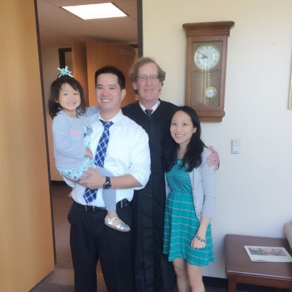 Roxy's California Adoption Day, September 21, 2015 with Judge Peter McBrien