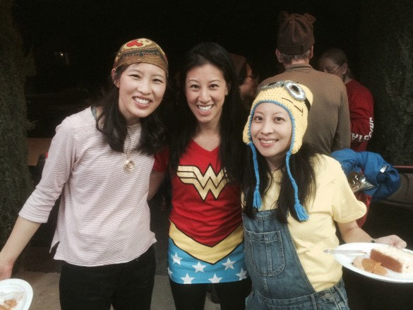 A pirate, Wonder Woman, and a minion