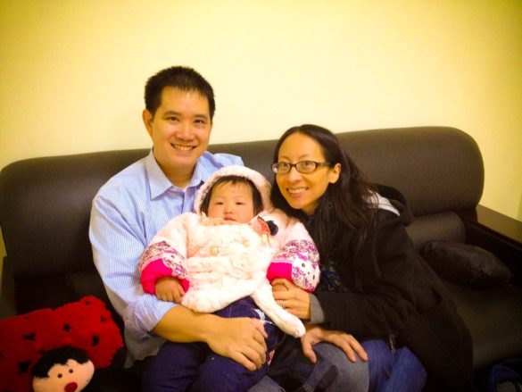 Our 1st family picture taken on Gotcha Day, January 13, 2014 in Wuhan, China