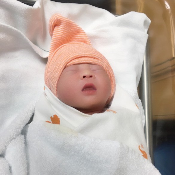 Carissa, moments after her birth