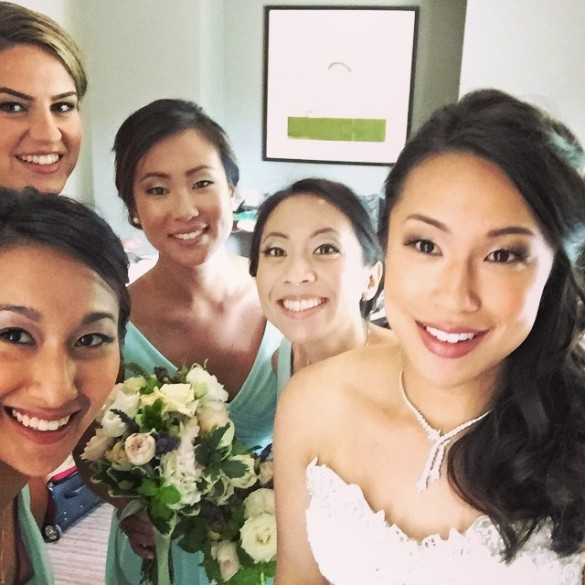 My cousin Jessica with her bridesmaids