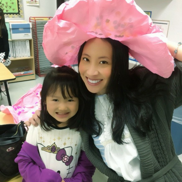 Roxy and I at the Mother's Day  Tea Party at her preschool
