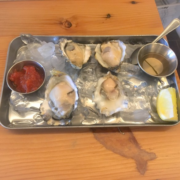 Raw Oysters. These were $1 each!