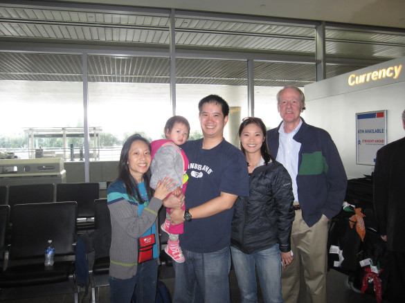 Our Pastor Dave Finch & My Sister Allison greeted us at SFO