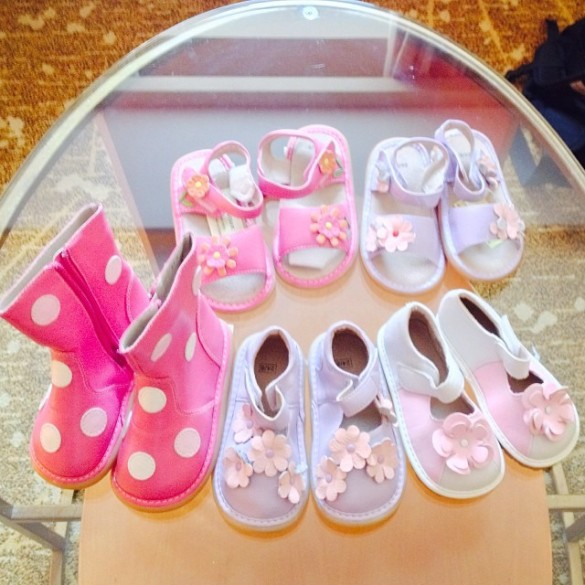 I went a lil nuts on Shamian Island buying my baby girl shoes.