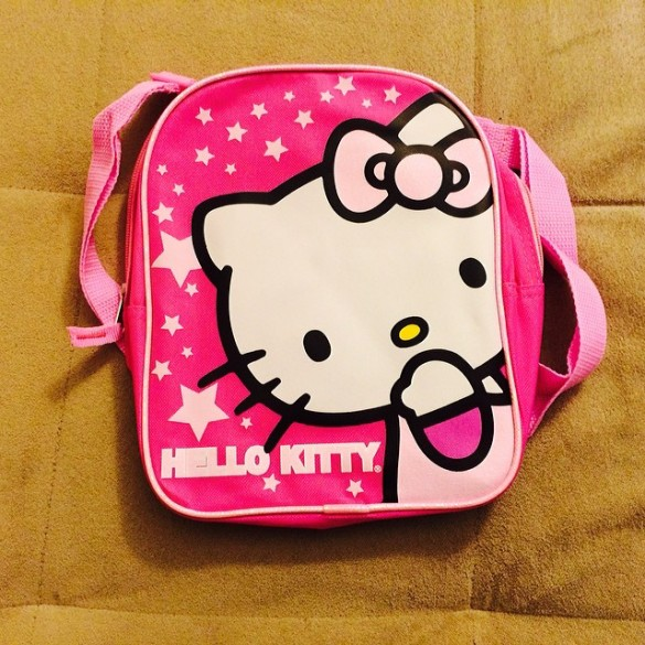 Hello Kitty backpack from Auntie Phi, Uncle Michael, & Parker for Roxy's birthday