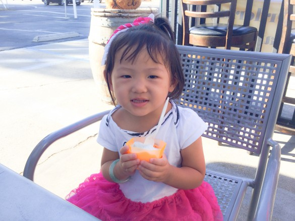 Gelato date with my little girl