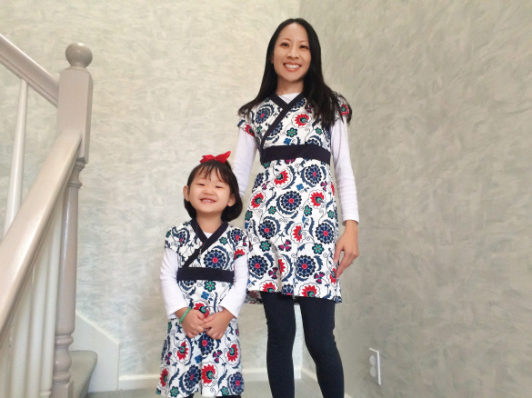 Me & Roxy in Mommy & Me dresses (Tea Collection)