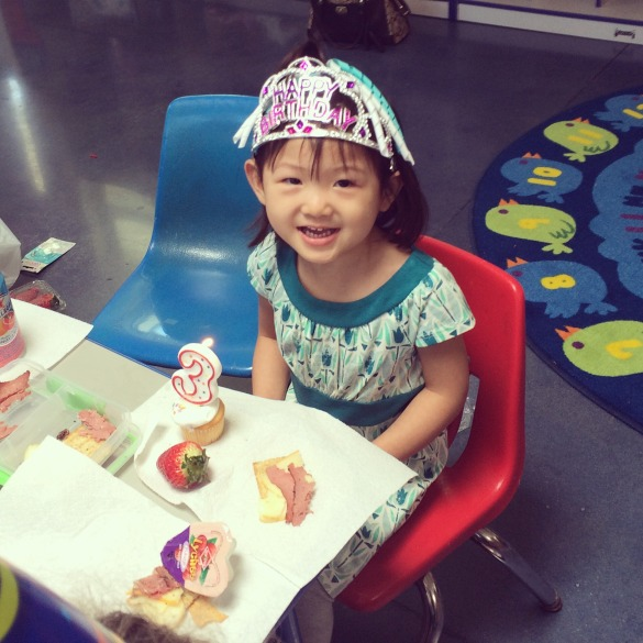 Roxy at her birthday party at Brookfield School