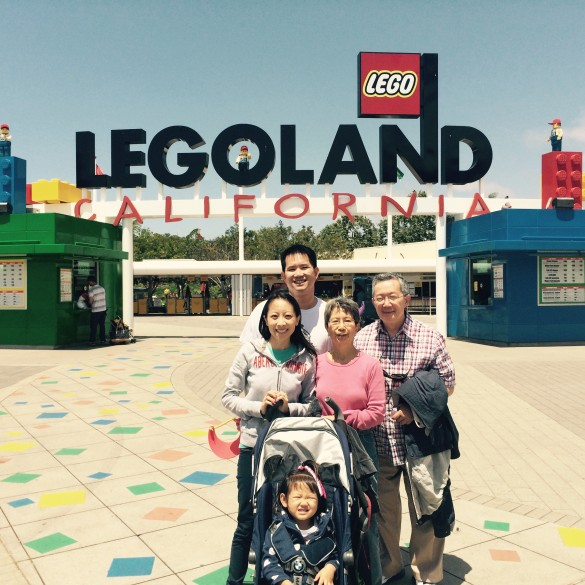 With my in-laws outside Legoland