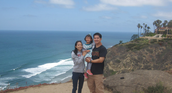 With Kenny & Roxy at my favorite spot at the Cliffs by UC San Diego