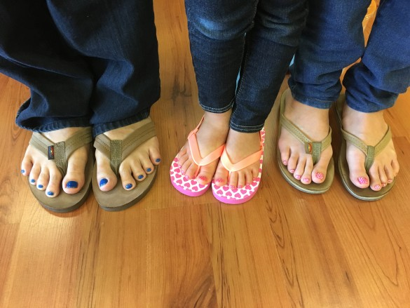 Kenny's, Roxy's, and my toenails after our mani pedis