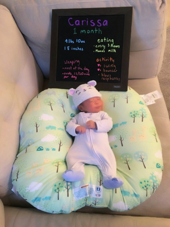 Carissa at one month