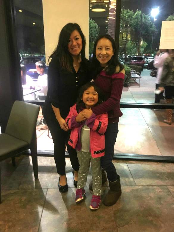 Roxy and I with Yvonne, the owner of Journey To The Dumpling
